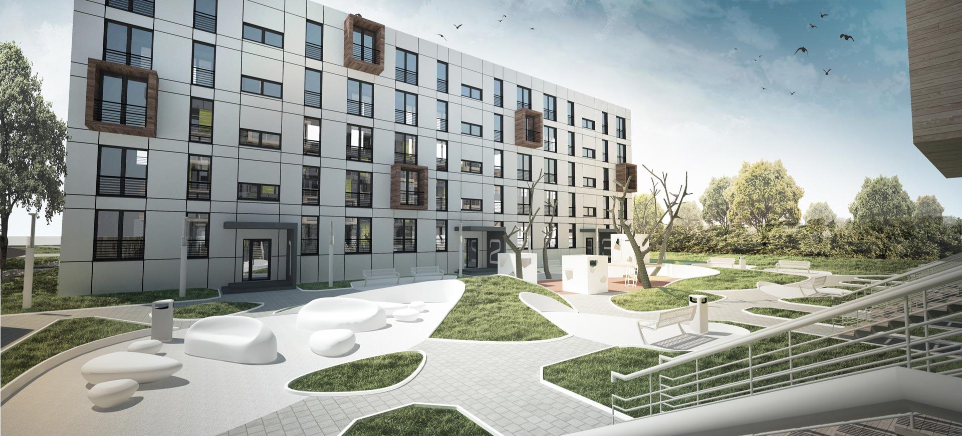 Rafal Keska - projekt dyplomowy 2013 r. Modernizacja osiedla przy ul. Lecha w Kielcach.